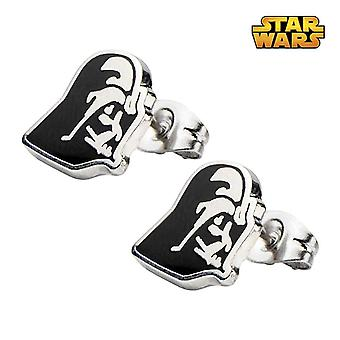 Star Wars Stainless Steel Darth Vader Stud Earrings