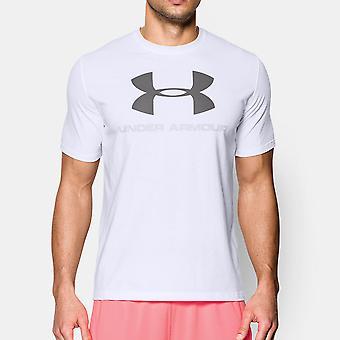 Onder pantser Mens Sportstyle Center Logo korte mouw T Shirt
