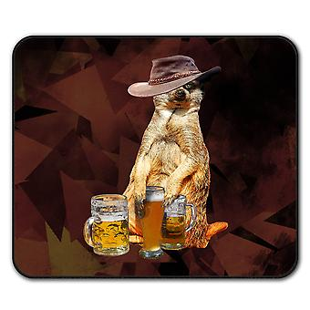 Drunk Animal Beer  Non-Slip Mouse Mat Pad 24cm x 20cm | Wellcoda