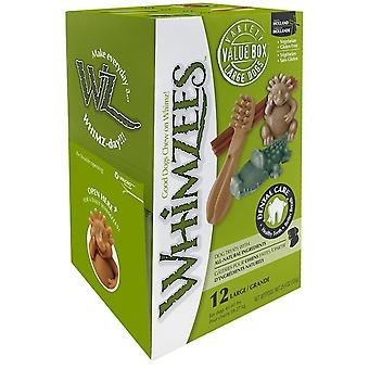 Whimzees Dog Natural Vegetable Based Treat, Variety Box