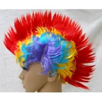 Mohican parrucca - Multi-Coloured