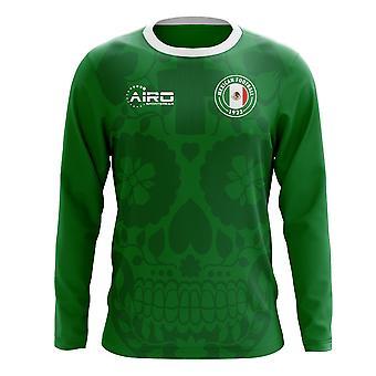 2020-2021 Mexico Long Sleeve Home Concept Football Shirt (Kids)