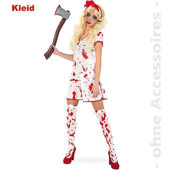 Blodig Lady drakt damer zombie vandøde Halloween damer drakt
