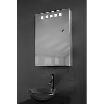 K259 deva LED iluminado banheiro espelho armário com Sensor & Shaver
