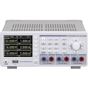 Rohde & Schwarz HMC8043 bänk PSU (justerbar spänning) 0 - 32 V 0 - 3 A 100 W USB host, USB, Ethernet-No. av utgångar 3 x