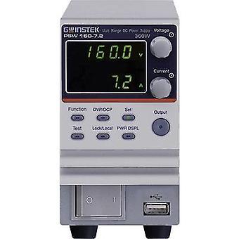 GW Instek PSW160-7.2 bænk PSU (Justerbar spænding) 0-16 V DC 0-7,2 A 360 W nej. af udgange 1 x