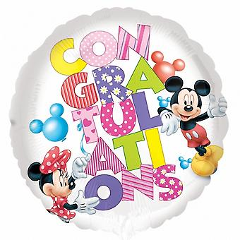 Anagram 18in Mickey And Minnie Congratulations Foil Balloon