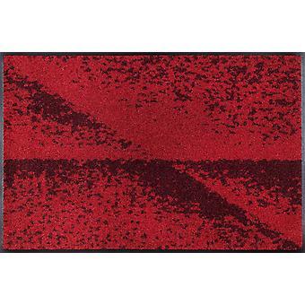 wash + dry washable floor mat red shadow by Daniska