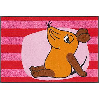 lavar + secar alfombra de suciedad lavable de estera del ratón de DieMaus