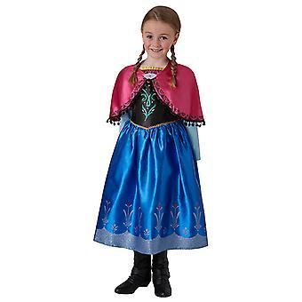 Anna Frozen Deluxe Kleid Kostüm für Kinder Anna und Elsa