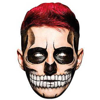 TRIXES Halloween Face Mask Scary Man 2D Fancy Dress  – Parties and Trick or Treat