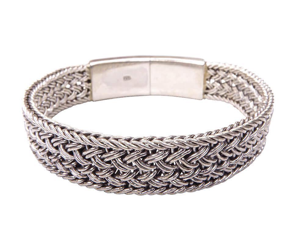 Zilveren armband geweven