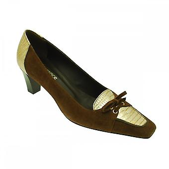 Lorbac Brown Suede With Gold Met Front