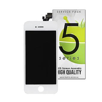 Magas minőségű LCD-képernyő közgyűlés iPhone 5-fehér