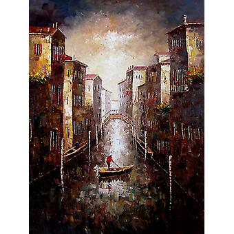 Venice hand-painted oil painting on canvas, 90x120 cm