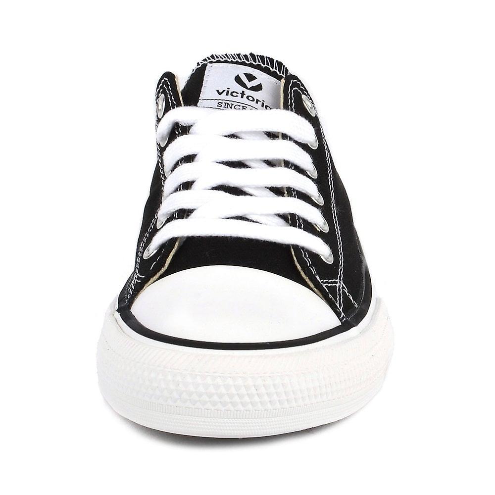 Victoria Shoes Tribu Black Canvas Low Top Trainer
