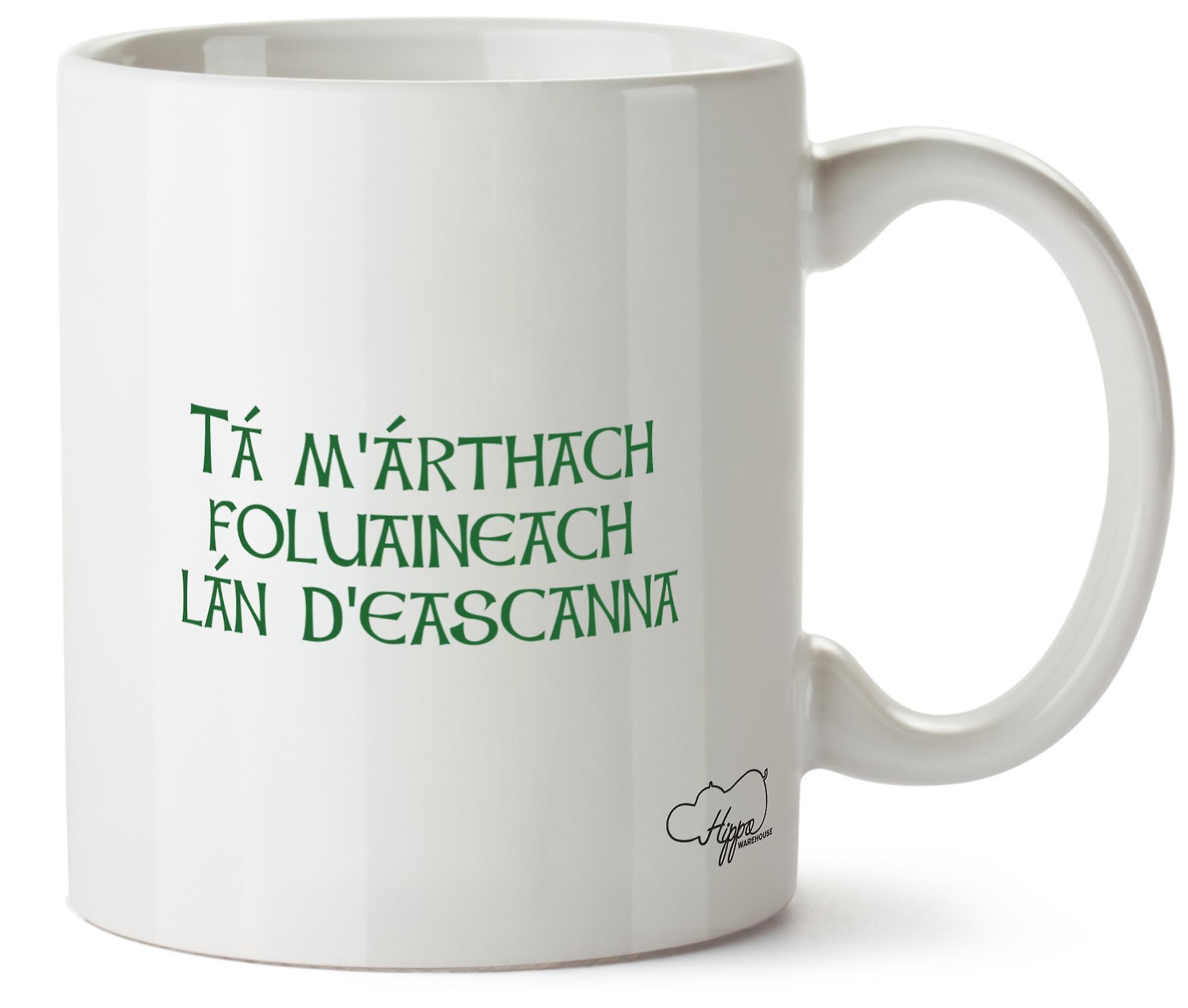 Hippowarehouse T ам ' Æthach Foluaineach L D'Eascanna (мой ховеркрафта полна угрей) напечатаны Кубка керамическая кружка 10oz