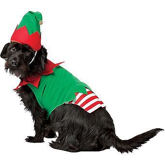 Elf Hund Kostüm für große Hunde