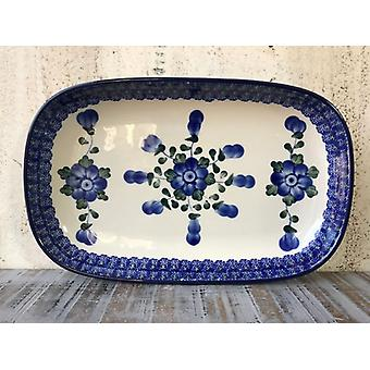 Bol / assiette, 26 x 16 x 3 cm, tradition 9 - poterie polonaise - BSN 1022