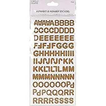 Simply Creative Alphabet & Number Stickers - Modern Cork (SCSTK010)