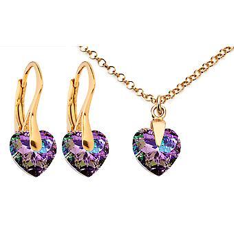 AH ювелирные изделия Vitrail свет сердце кристалл из Сваровски