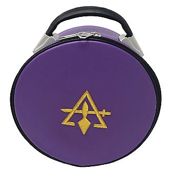 Cryptische royal & select masonic hat/cap case paars