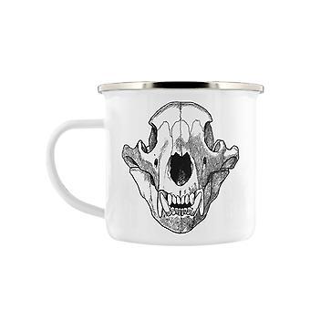 Grindstore Ursa Skull Enamel Mug