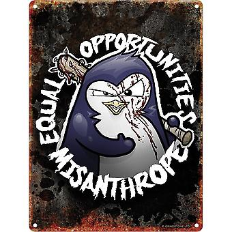Psycho Penguin Equal Opportunities Mini Tin Sign