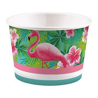 Flamingo Beach Party Ice sundae 270 ml 8 pieza Summer Grill Fest fiesta de cumpleaños