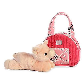 "Aurora World Inc. 7"" Pink Barn Fancy Pal Pet Carrier"