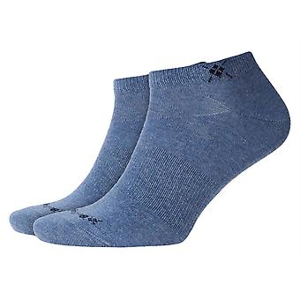 Burlington Everyday 2-pack sneaker strumpor-ljus jeans blå