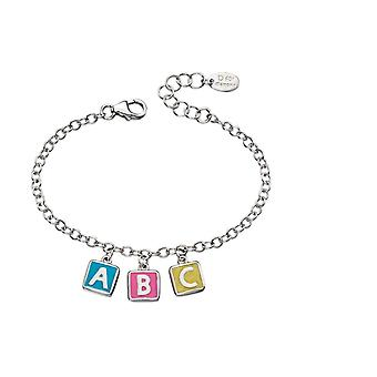 D voor Diamond Childrens Sterling Silver ABC Charm armband #b4878