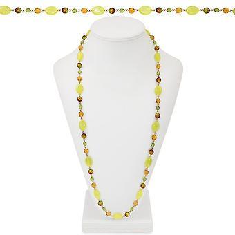 Wieczne kolekcji Nowej Anglii żółty i zielony kryształ naszyjnik zroszony ton złota 36 cali