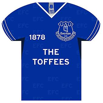 Everton FC Shirt Shaped Sign