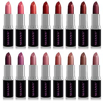 SHANY (Not So) Sweet Sixteen Creme Lipstick Set - Smooth, Highly Pigmented Lip Shades for All Day Wear - 16 Varying Colors