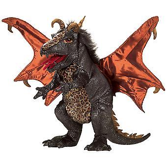 Loutka ruční-Folkmanis-černý Gragon nová zvířata měkká panenka Plysh Toys 3069