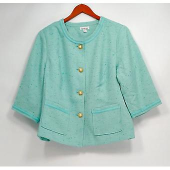 Joan Rivers Classics Collection Women's Plus Basic Jacket Blue A233808