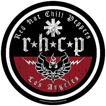 Red Hot Chili Peppers RHCP Los Angeles Round SEW-on klud backpatch 290mm diameter (RZ)