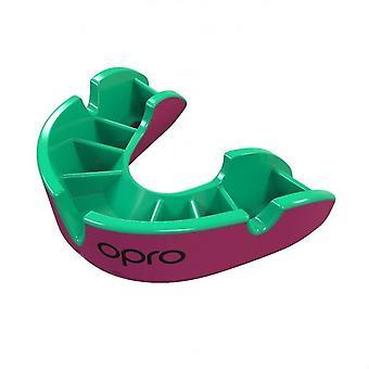 OPro Junior prata Gen 4 boca guarda rosa/verde
