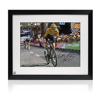 Geraint Thomas ondertekende Tour de France foto: winnen op Alpe D ' Huez. Framed
