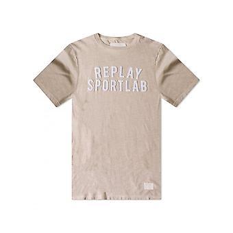 Replay Jeans Replay Sportlab T Shirt Chalk