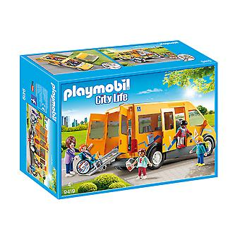 Playmobil 9419 City Life School van com Folding rampa playset