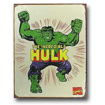 The Hulk Vintage Tin Poster Sign