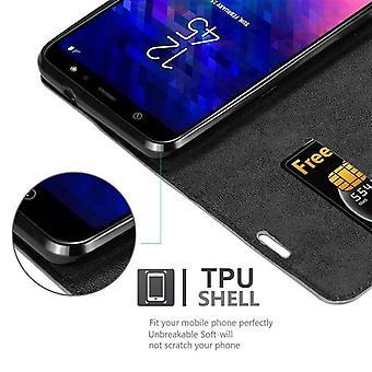 Cadorabo sag for Samsung Galaxy A6 PLUS 2018 sag sag dække - telefon sag med magnetisk lås, stå funktion og kortrum - Case Cover Beskyttende case bog Foldestil