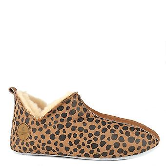 Shepherd of Sweden Lina Leopard Print Slipper Boot