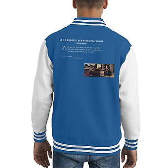 A.P.O.H Leonardo Da Vinci Flight Quote Kid's Varsity Jacket