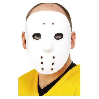 White Hockey Mask Halloween Accessory