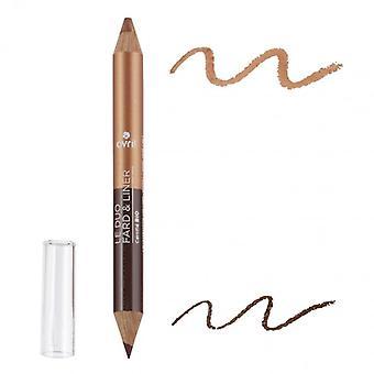 Avril Certified Organic 2 in 1 Eyeshadow & Liner Terre brûlée/Cuivre Irisé