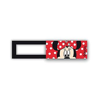 Webcam cover / schuifje  - licentie™ - Minnie mouse - rood