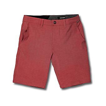 Volcom Frickin SNT Slub 20 Pantalones Cortos de Anfibios en Borgoña